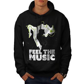 Feel House Dance Music Men BlackHoodie | Wellcoda