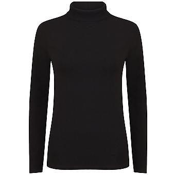 Skinni Fit Womens/Ladies Feel Good Roll Neck Long Sleeve Top