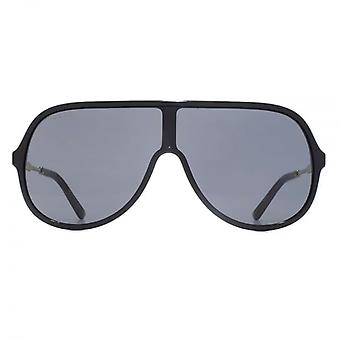 Gucci-Oversize Shield Sonnenbrille In schwarz
