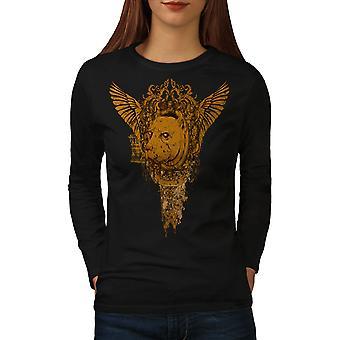 Zombie blutigen Horror Frauen BlackLong Sleeve T-shirt   Wellcoda