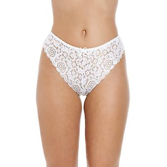Camille White Floral melodie Lace Thong