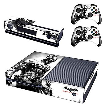 REYTID Batman Arkham Xbox One Console Skin / Sticker + 2 x Controller Decals & Kinect Wrap - Full Set - Microsoft XB1