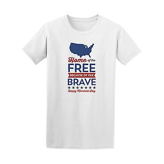 Home Of The Free Because Of The Brave Tee - Image by Shutterstock