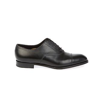 Edward green men's CHELSEABLACK black leather lace-up shoes