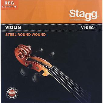 Conjunto de cuerdas de violín adecuado para violines de 1/8 a 1/2