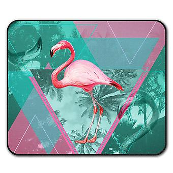 Flamingo Triangle  Non-Slip Mouse Mat Pad 24cm x 20cm | Wellcoda