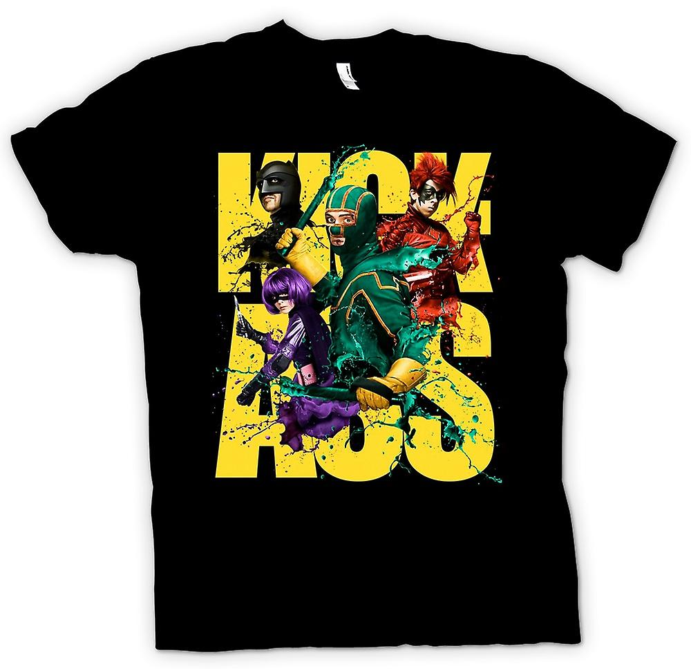 Womens T-shirt-Kick Ass Super Hero - B-Movie - Poster