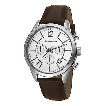 Pierre Cardin heren horloge horloge Chrono TROCA leder PC106591F02