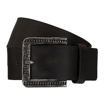 Replay correa cuero cinturones hombre cinturones Brown 5385