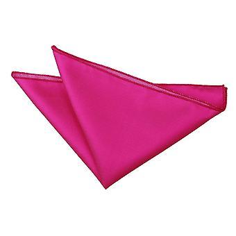 Fucsia rosa sólido Check Plaza de bolsillo