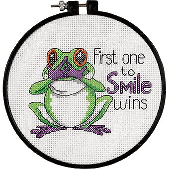 Learn-A-Craft First One To Smile Counted Cross Stitch Kit-6
