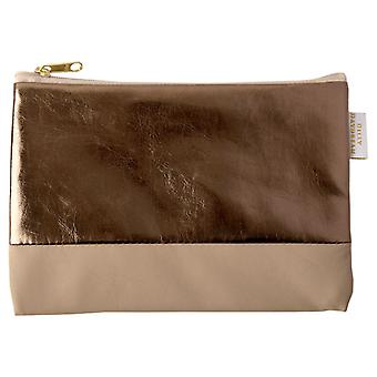 Cappuccino & Bronze Make Up Pouch