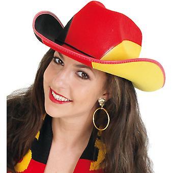 Sombrero de vaquero ventilador oro rojo Alemania Alemania negro