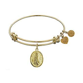 Stipple Finish Brass Faith and Trust Angelica Bangle Bracelet, 7.25