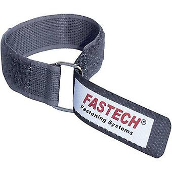 Hook-and-loop tape with strap Hook and loop pad (L x W) 220 mm x 20 mm Grey Fastech F101-20-220M-FT 1 pc(s)