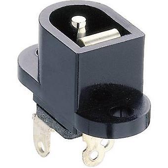 Lumberg NEB/J 25 låg strömkontakten Socket, vertikal vertikal 6,5 mm 2,35 mm 1 dator