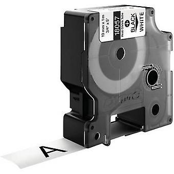 Heatshrink label DYMO IND RHINO 18057 Polyolefin Tape colour: White Font colour:Black 19 mm 1.5 m
