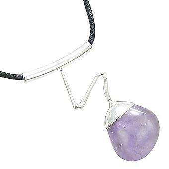 Braziliaanse Lucky Charm kristal tuimelde Amethist edelsteen golvende ketting