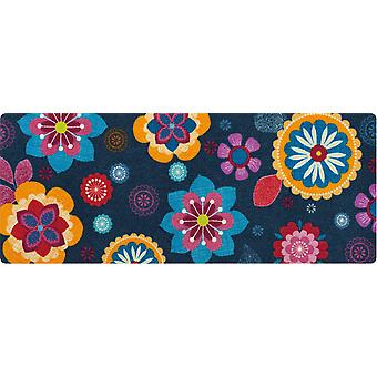 Living mat XL Bohemian flower Salon Loewe washable floor mat