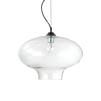 Ideal Lux Bistro' Single Pendant Light Round Trasparente