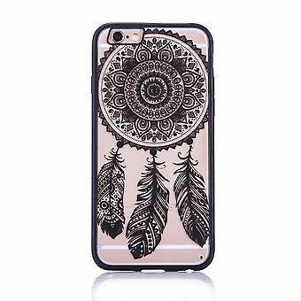 Mandala di Mobile Shell per Samsung Galaxy S6 edge design Custodia cover design acchiappasogni coperchio paraurti nero