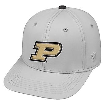 Purdue Boilermakers NCAA TOW Impact Gray Stretch Fitted Hat