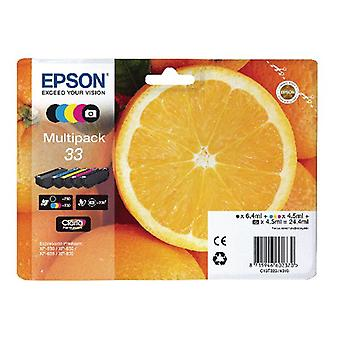 Epson 33 Inkjet Cartridge - Cyan/Magenta/Yellow/Black/Photo Black Multipack