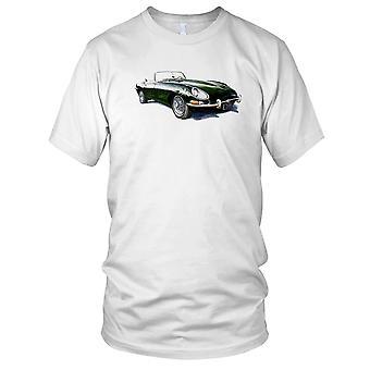 Jaguar E Type Cabriolet klassiske bilen Mens T Shirt