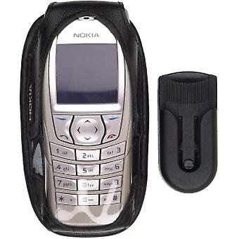OEM Nokia 6600, 6620 Leather Case - Black