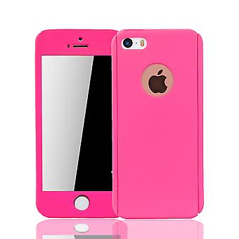 Apple iPhone 5 / 5s cell phone case protective case cover tank protection glass pink