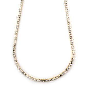 Pharaoh Necklace 18k Gold plated CZ Round Cut 4mm