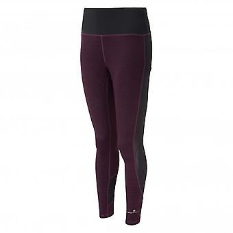 Momentum Agile Womens Breathable & Sweat Wicking Running Tights Aubergine