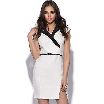 Collared Cross Over Bodycon jurk