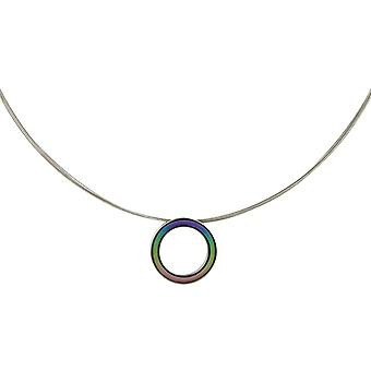 Ti2 титана ретро Кулон малых и провод кабель ожерелье - мульти цвет