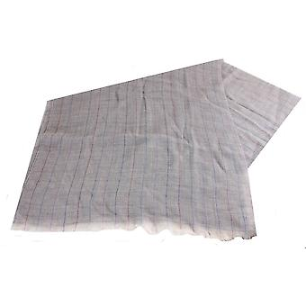 Bassin and Brown Watson Large Check Wool Scarf - Fawn/Brown