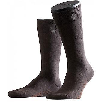 Falke Family Midcalf sokken - donkerbruin