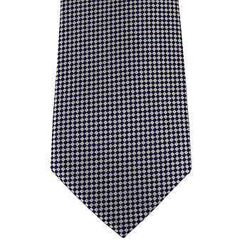 David Van Hagen Checked Tie - White/Blue