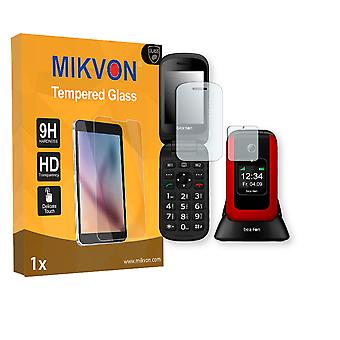 Bea-fon SL670 Screen Protector - Mikvon flexible Tempered Glass 9H (Retail Package with accessories)
