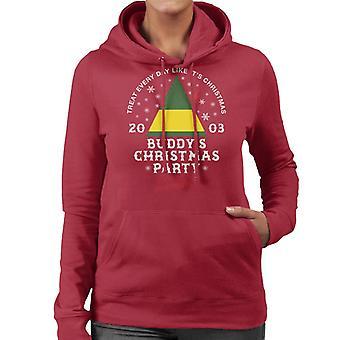 Elf Buddys Christmas Party Women's Hooded Sweatshirt