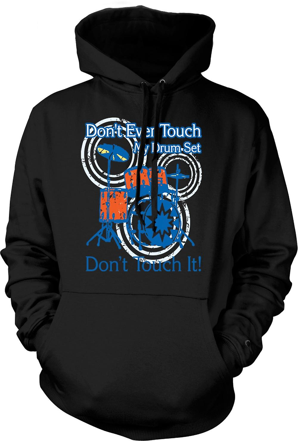 Mens Hoodie - Don�t Touch My Drum Set - Funny