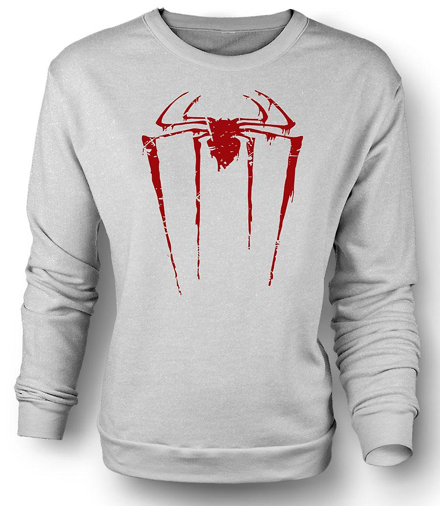 Felpa Mens Spiderman Grunge Logo