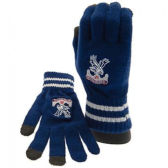 Crystal Palace FC Official Adults Unisex Touch Screen Knitted Gloves