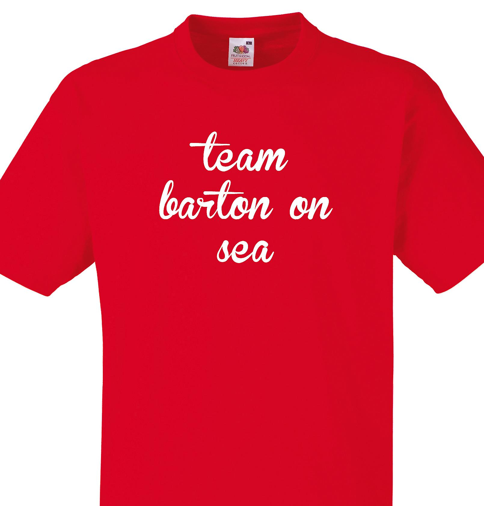 Team Barton on sea Red T shirt