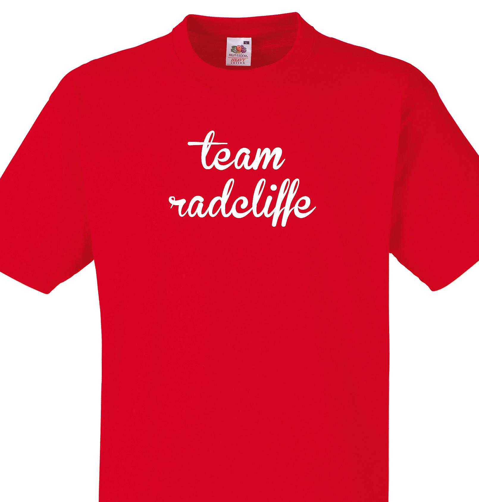 Team Radcliffe Red T shirt