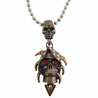 جمع أفضل متجر هالوين مجوهرات الجمجمة النحاس قلادة