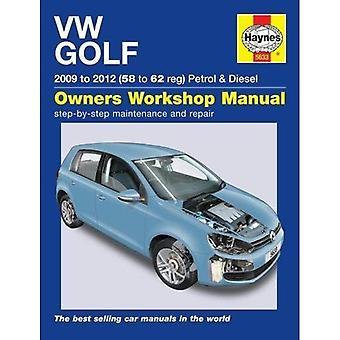 VW Golf Petrol & Diesel: (09 - 12) 58 to 62