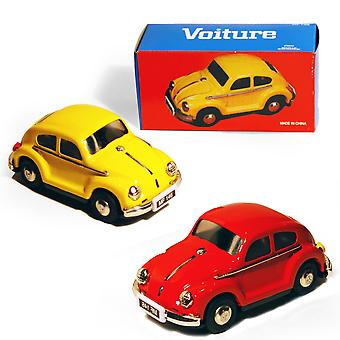 Cars - Pack Of Two - Retro Tin Volkswagen Collectable - Red / Yellow
