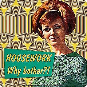 Housework..Why Bother?  funny drinks mat / coaster