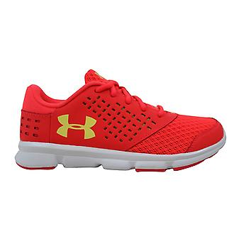 Under Armour GPS Rave RN Red/Yellow  Pre-School 1285437-297 Size 2.5 Medium