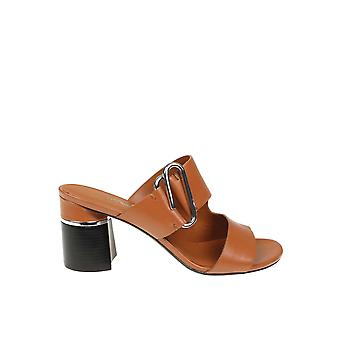 3.1 Phillip Lim Brown Leather Slippers